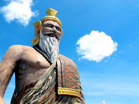 hermits: Hermits statue and Sky In Thailand