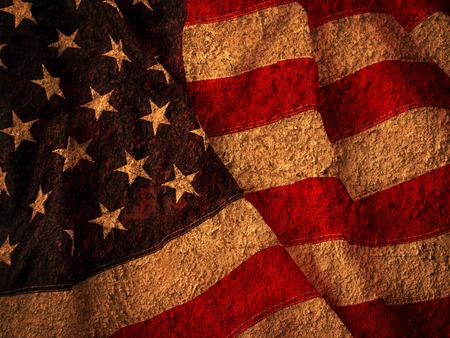 Grunge USA Flag 写真素材