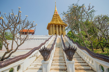 samut prakan: The Footprint of the Lord Buddha.Located in the ancient city Samut Prakan, Thailand