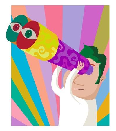 psychedelia: Psychedelic binoculars