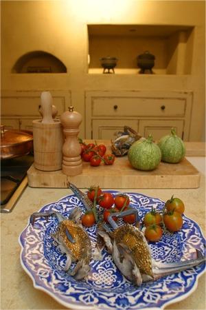sea food: Sea food in a Mediterranean kitchen Stock Photo