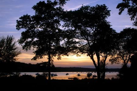 ny: Sunset scenery, Long Island, NY Stock Photo
