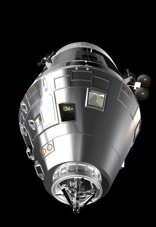 Apollo spaceship ready to dock
