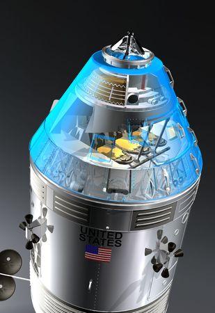 Apollo spaceship close up Stok Fotoğraf