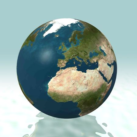 Europa 3D wereld