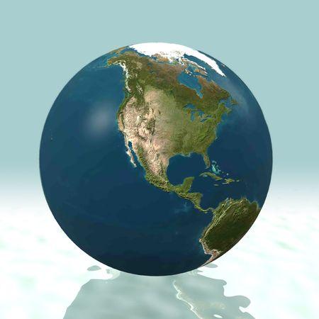 North America 3D world photo