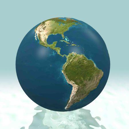 mapa del peru: Mundo 3D, Am�rica Latina