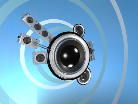 audio: Audio planet in the cyberspace Stock Photo