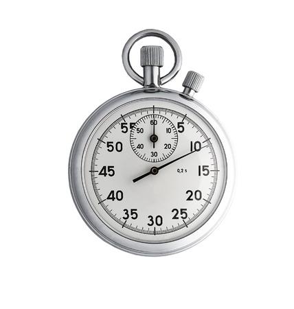 chronograph: Cron�metro anal�gico aisladas sobre fondo blanco