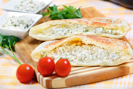 paste: Sandwich with eggplant paste