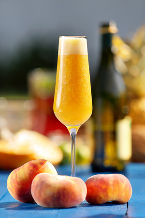 Italian Bellini alcoholic cocktail with peach Stock Photo - 44240644