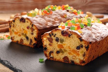 fruitcake: Easter fruitcake on the stone background