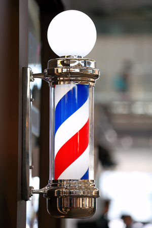 barber shop: Barber shop vintage pole Stock Photo