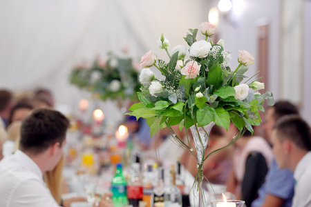 People at a party or wedding reception Stock Photo - 64223668