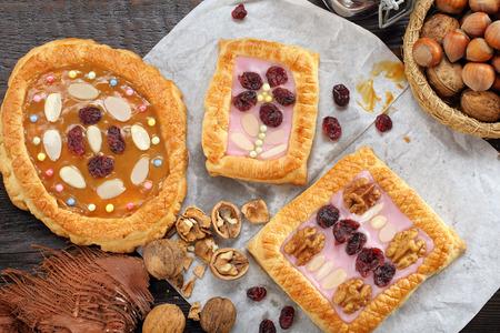 Mazurek traditional polish easter cake on wooden background Фото со стока