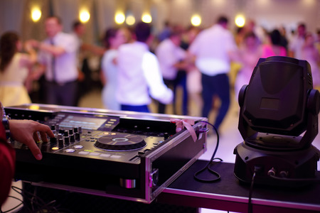 Dancing couples during party or wedding celebration  Archivio Fotografico