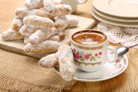 Alfajores traditional Spanish cookies   Stock Photo
