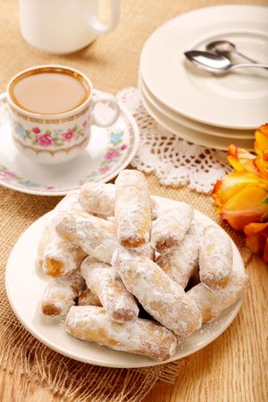Alfajores traditional Spanish sweet cookies