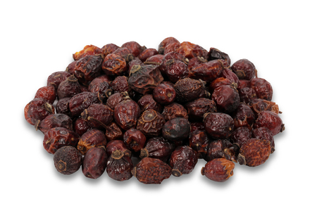 Rosehip dry fruit isolated on a white background Banque d'images