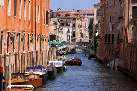 Italy, Venice - 13 June 2019: narrow street of Venice