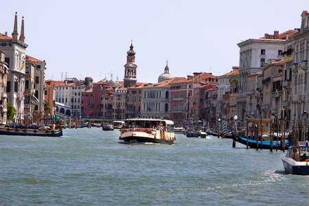 Italy, Venice - 13 June 2019: Vaporetto, vaporetti, water tram in Venice