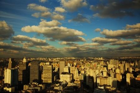 Sao Paulo Brazil skyline sunset