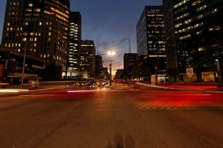 time lapse: Avenida Paulista night traffic time lapse Sao Paulo Brazil Editorial