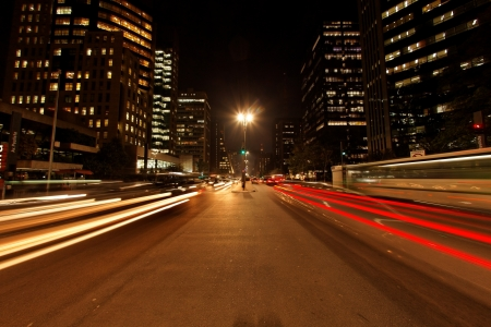 lapse: Avenida Paulista night traffic time lapse Sao Paulo Brazil Editorial