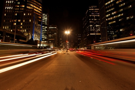 Avenida Paulista night traffic time lapse Sao Paulo Brazil