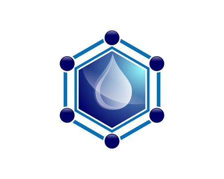 Hexagon water resource  イラスト・ベクター素材
