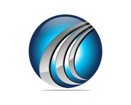 Global digital insurance icon Illustration