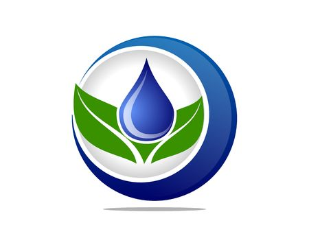Leaf and water nature icon
