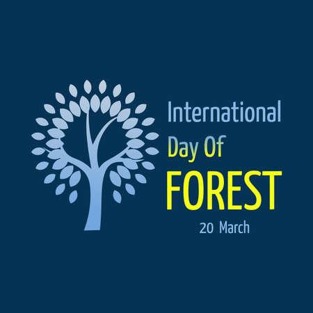International Forest Day Vector Illustration, for image, background, poster, eps 10