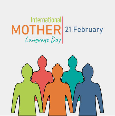 International Mother Language Day, which is held annually, on February 21. Suitable for backdrops, posters, annual events.