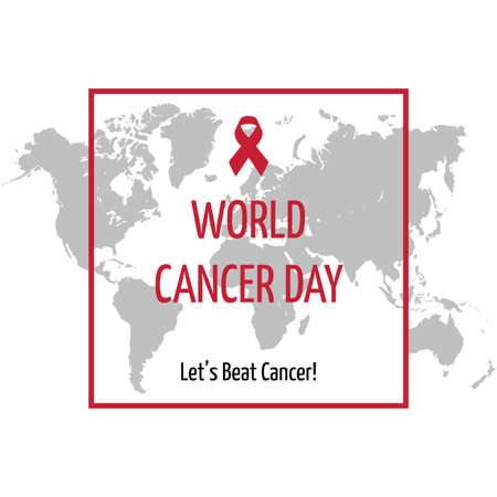World Cancer Day Concept. Vector illustrations, which are always held once a year, are suitable for backgrounds, posters, banners.