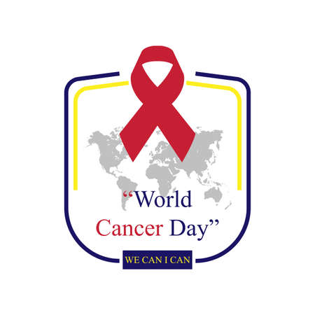 World Cancer Day Concept. Vector illustrations, which are always held once a year, are suitable for backgrounds, posters, banners. simple eps 10