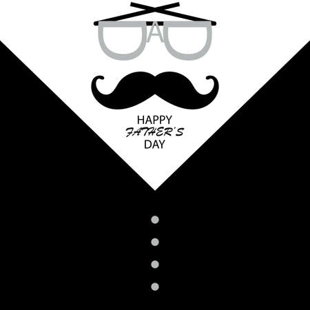 Happy Father's Day greeting card, suitable for posters, background, Simple vector illustration Ilustracje wektorowe