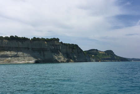 the coast of the island of Corfu in Greece impresses with a beautiful landscape