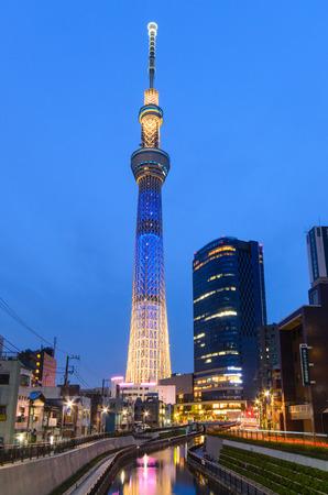スカイツリーと東京市夜景