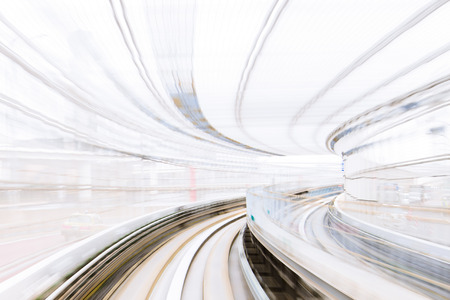 future city: Motion Blur of Japanese Railway Track