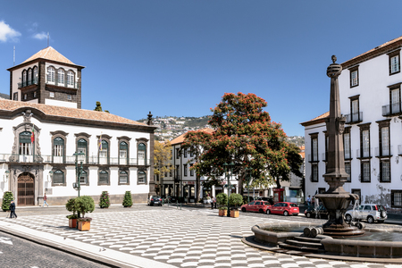 Funchal - Town hall Square - Madeira Editorial