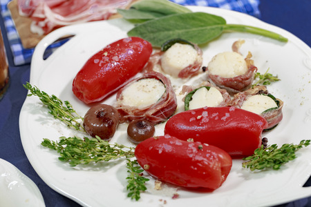 Confit of San Marzano tomatoes and Scallop Saltimbocca