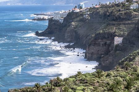 Tenerife - View from Los Realejos to Puerto de la Cruz with the Casa Hamilton