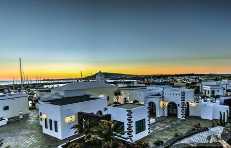 Lanzarote - Sunset at Rubicon Marina in Playa Blanca