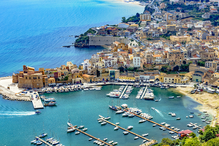 The port city of Castellammare del Golfo near Palermo in Sicily
