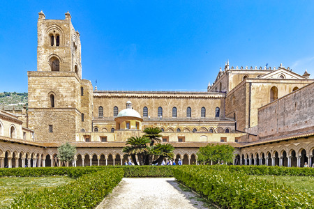 Cathedral of Santa Maria Nuova with cloisters at Monreale in Sicily