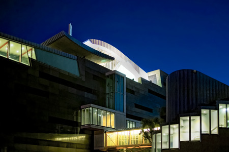 New Zealand - Night shot of the Museum of New Zealand Te Papa Tongarewa in Wellington