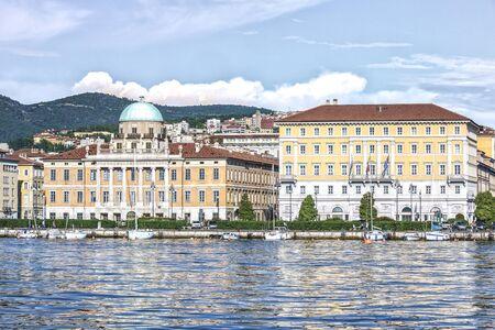 Palazzo Carciotti and Fincantieri - headquarters of the Italian shipyard SpA in Trieste Standard-Bild - 127444205