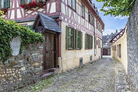 Gensfleisch house on the Burghofstra?e in Eltville am Rhein Standard-Bild - 127467352