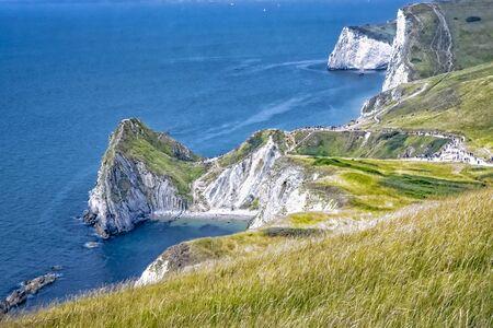 Jurassic Coast near Lulworth in County Dorset in southern England